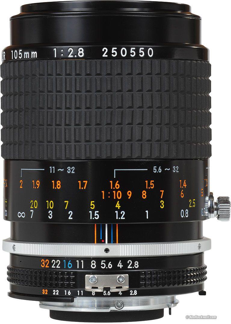 Nikon 105 Mm Micro Ais Focus Scale Nikon 105mm F 2 8 Ai S Micro Nikkor Enlarge Nikon Camera Lenses Nikon Lenses Best Digital Camera