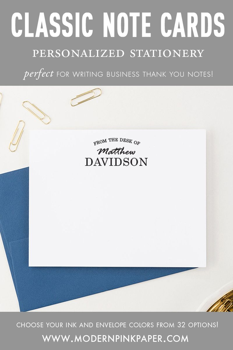 From The Desk Of.. Stationery