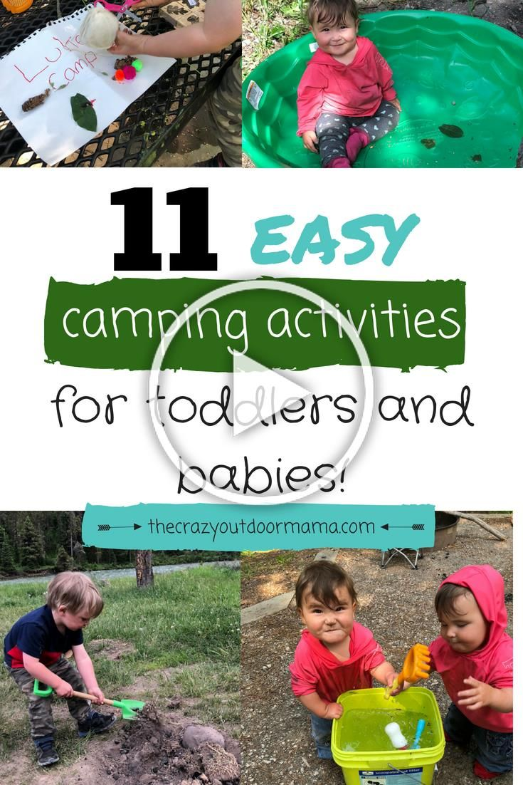 If youre looking for some fun camping activities to keep your babies or toddlers busy around camp,
