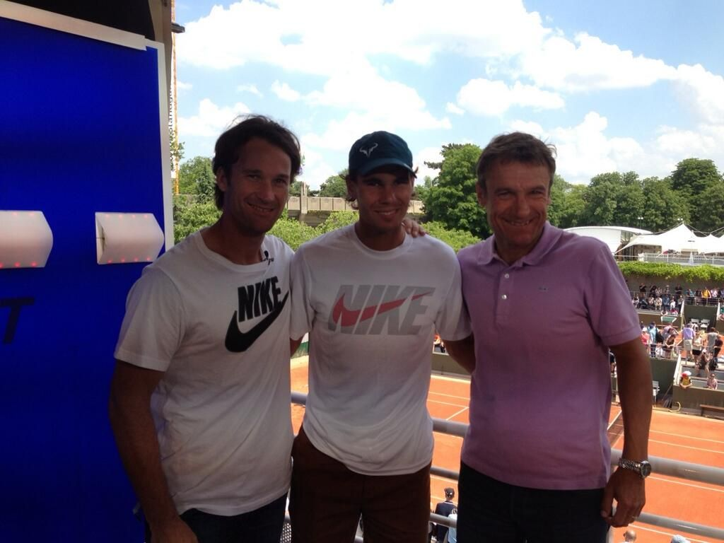 Carlos Moya Rafael Nadal and Mats Wilander Game Set and Mats