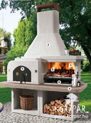 Gargano2 olasz kerti grill és kemence #feuerstellegarten