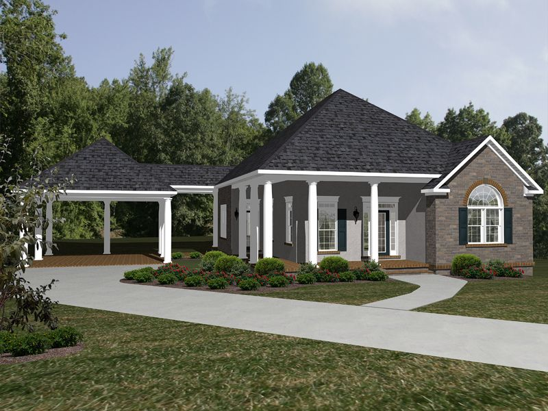 Traditional House Plan Front of Home 069D0115 House
