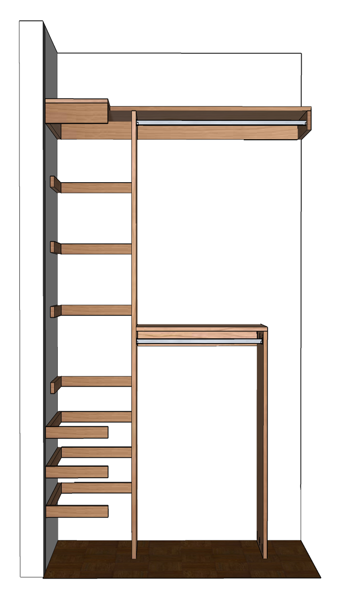 Free Woodworking Plans For A Diy Small Closet Organizer For