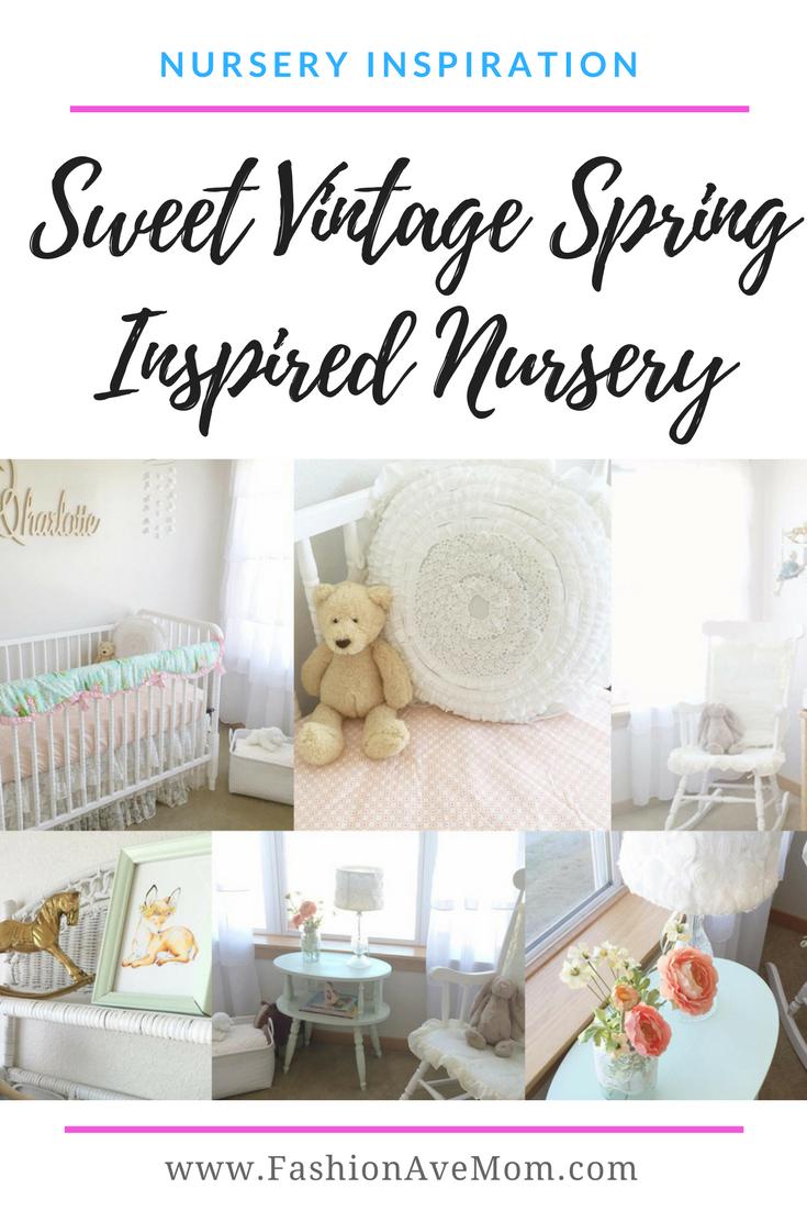 Vintage Spring Nursery Inspiration Baby Affiliate Links