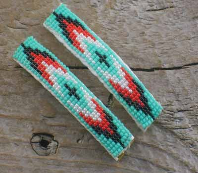Native American Indian Beaded Jewelry Barrettes Hair Bands At The
