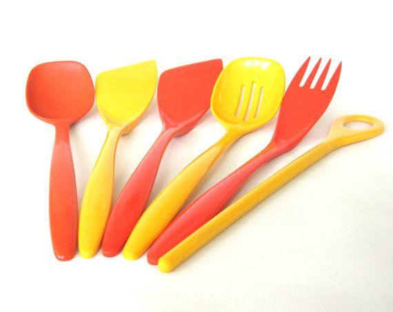 Modern Kitchen Utensils store kirsten orange spoon 518, rosti melamine spatula brown 2531