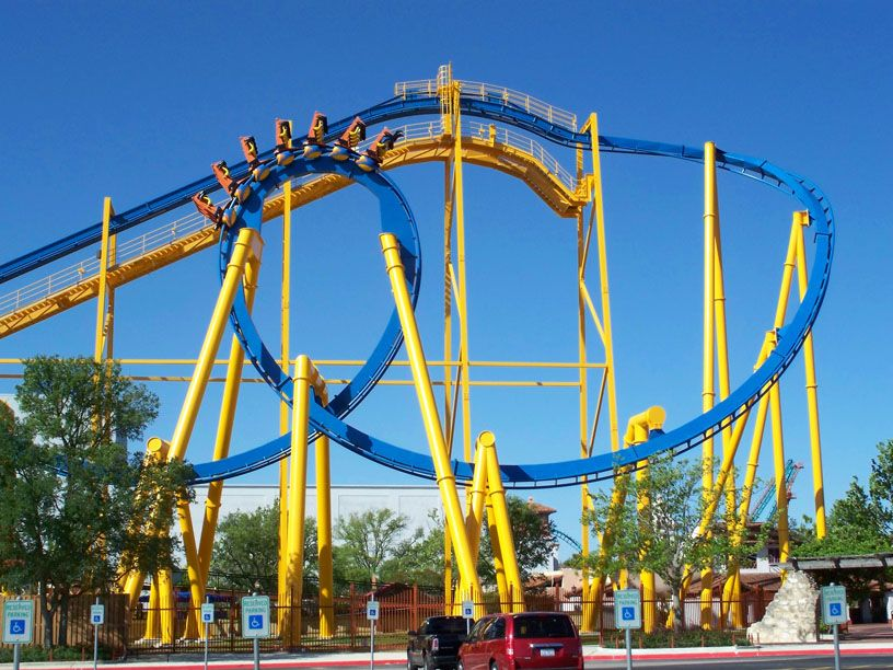 Goliath Six Flags Fiesta Texas Usa Six Flags Fiesta Texas Texas Attractions Roller Coaster