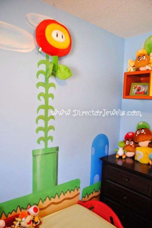 Mario Nursery Inspiration At Directorjewels Super Bros Nintendo Theme Diy Decor And