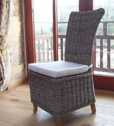 Natural Wicker Dining Chair Latifa Gray Dining Chairs Dining Chairs Sustainable Furniture