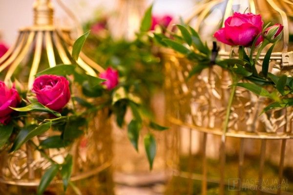 New york pakistani wedding by design house decor maharani weddings mehndi also gold bird cages with  hint of red pink party ideas in rh za pinterest