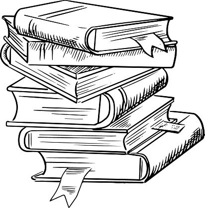 Stack Of Books With Bookmarks Vector Id488540178 412 420 Pixels