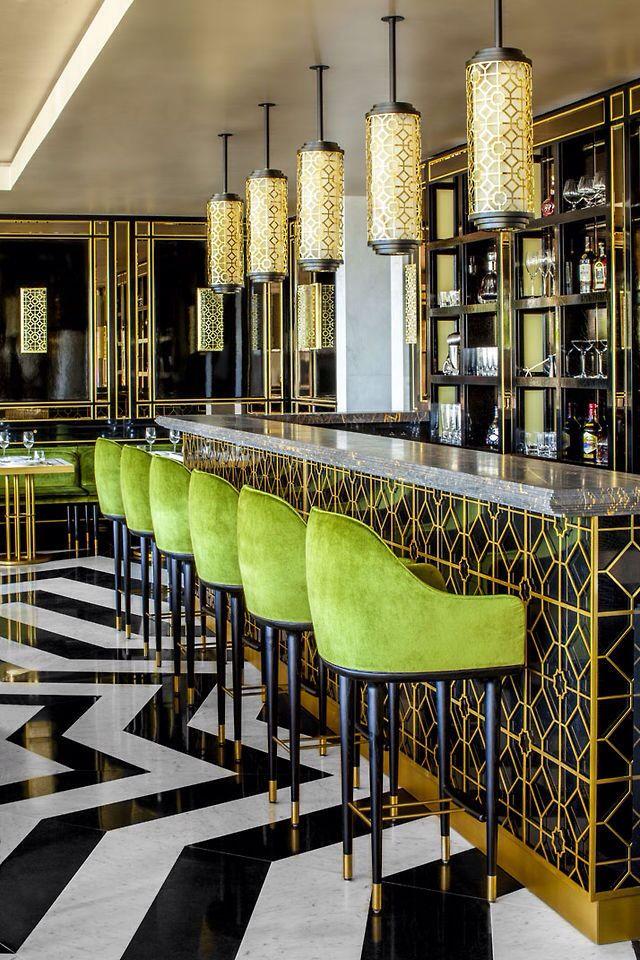 green, gold & black interior | interior design | pinterest | interiors