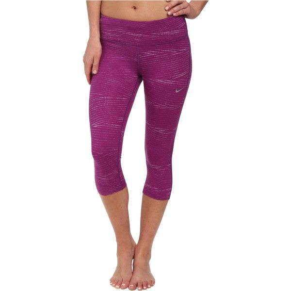 Nike Dri-FIT Epic Run Printed Capri Women's Capri, Purple ...