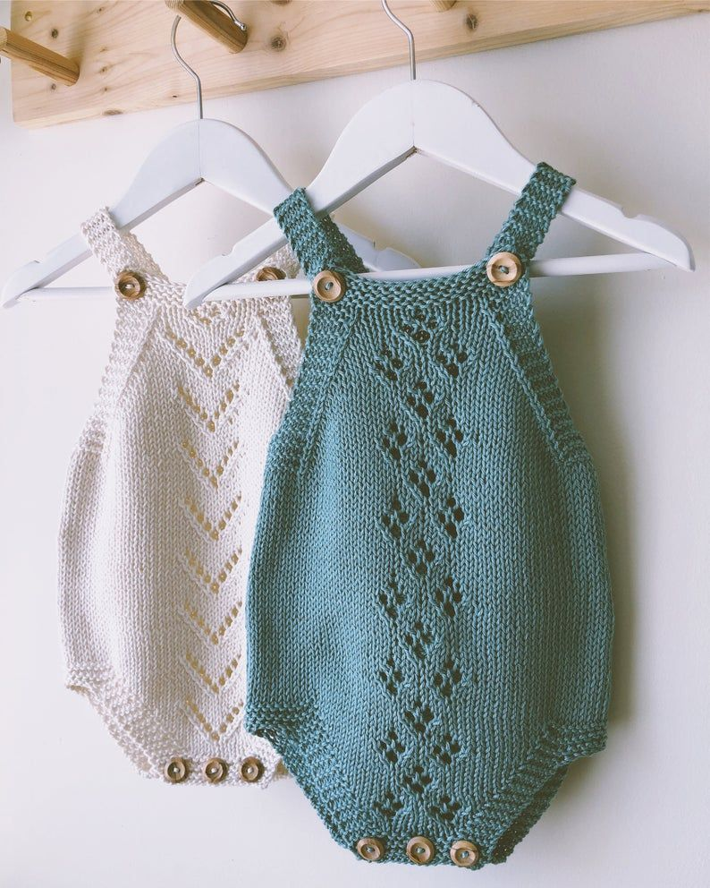 Photo of Lacey Romper PDF Knitting Pattern – Knitted Baby Playsuit – Instant Download – Vintage Style