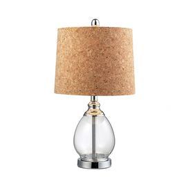 """Hand-picked by Laura Trevey, this eye-catching design is artfully crafted to bring a chic touch of style to your home décor.   Product: LampConstruction Material: Glass and corkColor: Clear and naturalAccommodates: (1) 100 Watt medium base bulb - not includedDimensions: 22"""" H x 12"""" Diameter"""