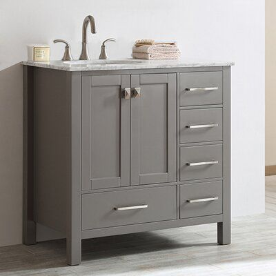 "Beachcrest Home Newtown 36"" Single Bathroom Vanity Set 