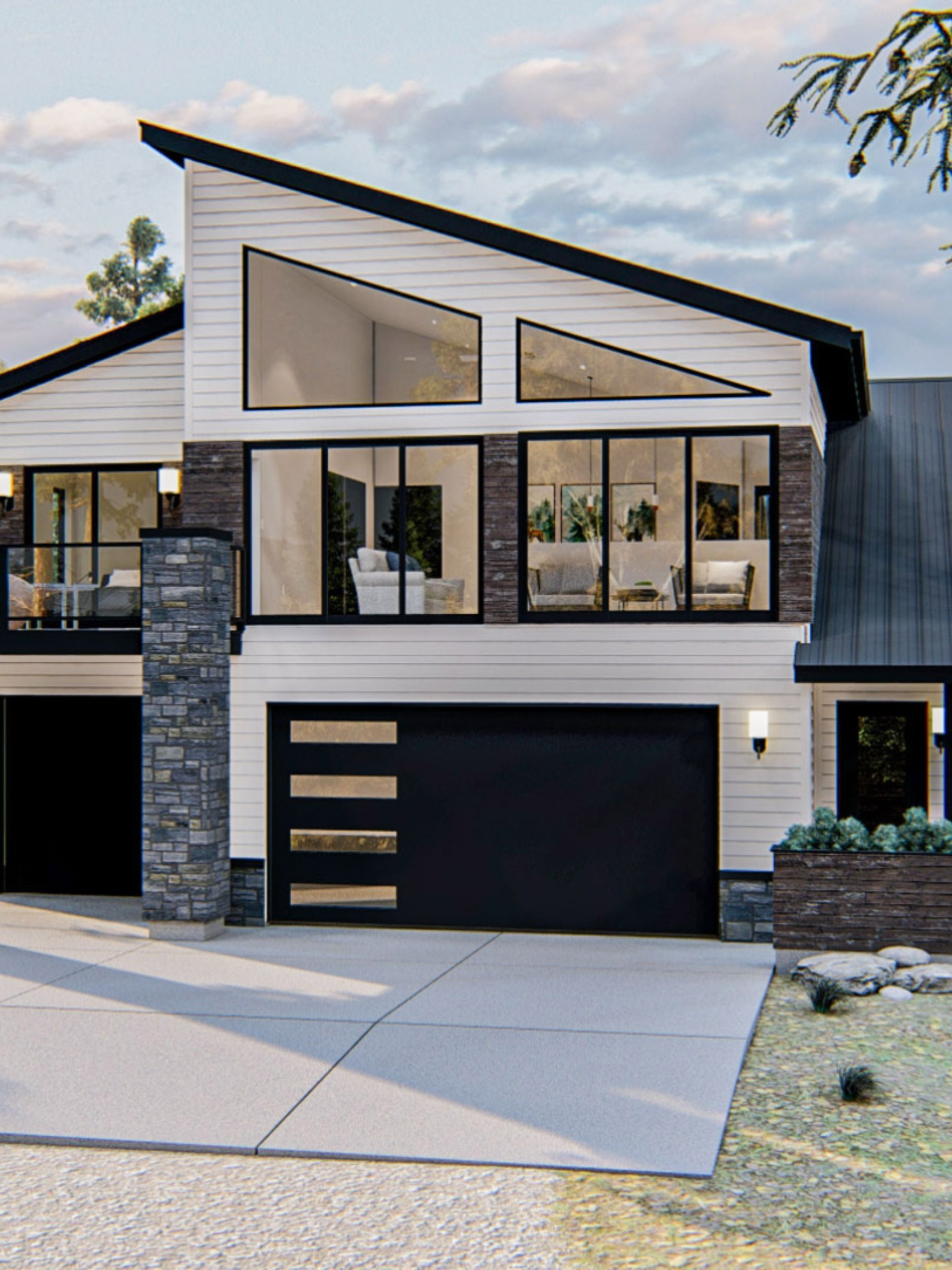 Modern Carriage House Plan Timber Valley In 2020 Carriage House Plans Modern Style House Plans House Plans
