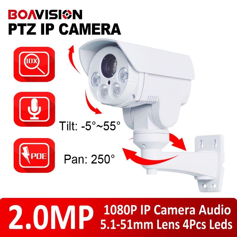 Ip Ptz Camera 1080p 2 0mp 10x Zoom Lens Ir 80m Pan Tilt