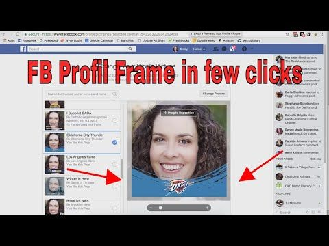 How to Create a Facebook Profile Picture Frame ☑ - YouTube ...