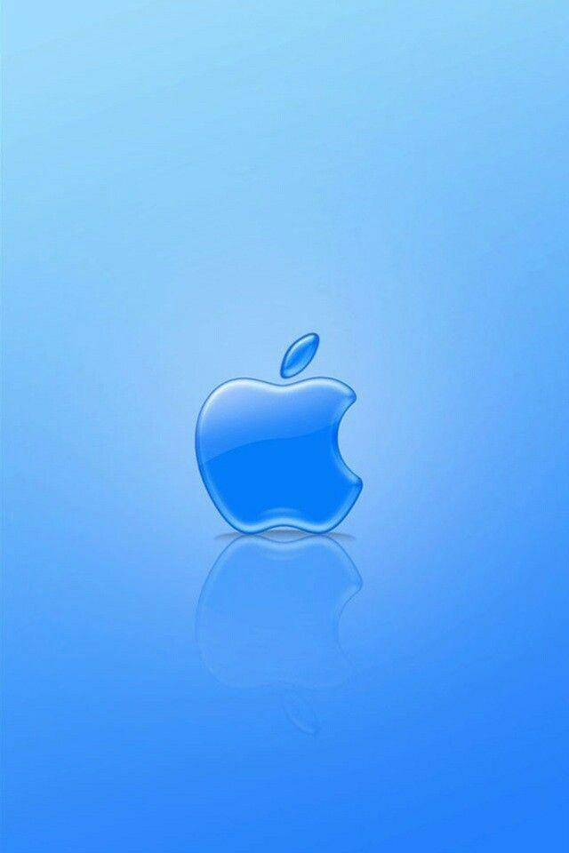 Light blue background Apple background, Apple logo