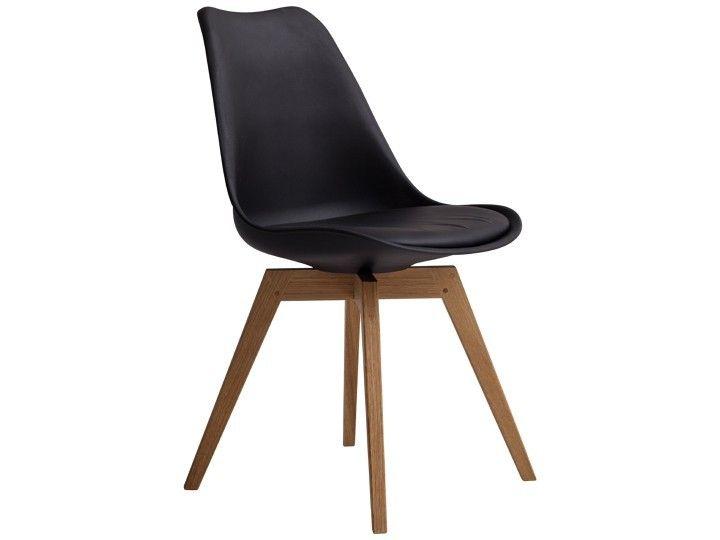basil stuhl esszimmerstuhl wartezimmerstuhl schwarz & eiche