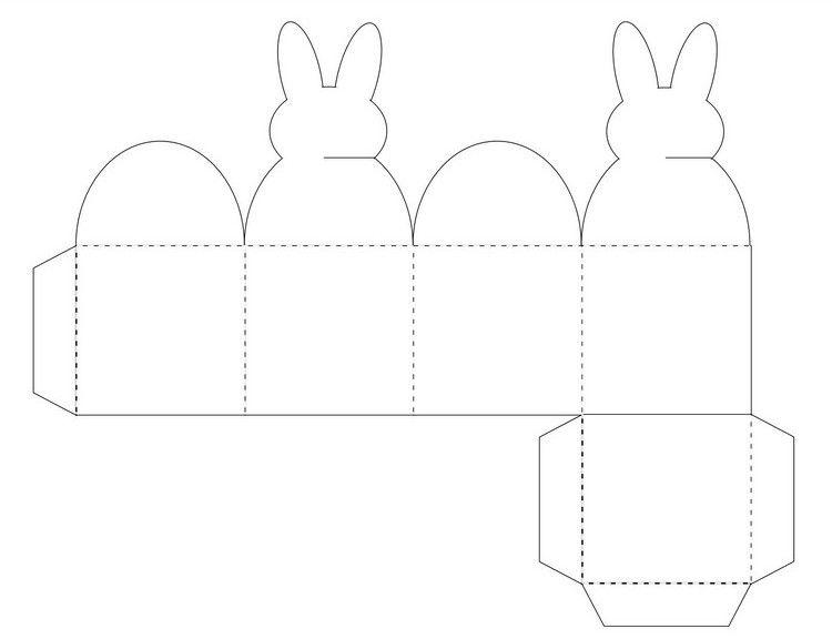 osterbasteln vorlagen ausdrucken bunny box vorlage #spring #Easter