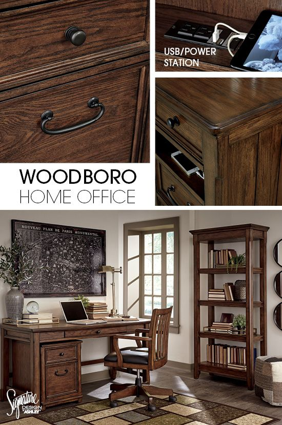Who Says You Can T Work And Play At The Same Time The Timeless Style Of The Woodboro Home Office Is The Perfect Canvas For You To Home Home Decor Home Office