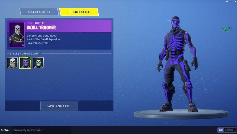 Fortnite Account Rare Purple Skull Trooper Skin Fortnite