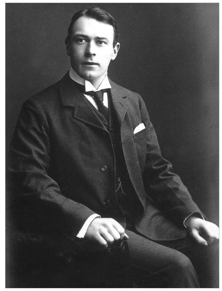 Thomas Andrew, one of the principal architects of RMS Titanic. On April 14, 1912, Andrews toured the ship and calculated that the ship would sink in less than two hours. Reports of Thomas' final moments are varied.  He was seen handing out lifejackets, helping with lifeboats, and throwing deckchairs in the water to be used as floatation devices. He reportedly was last seen in the first-class smoking room, pondering the ship that he designed. He was 39 years old.