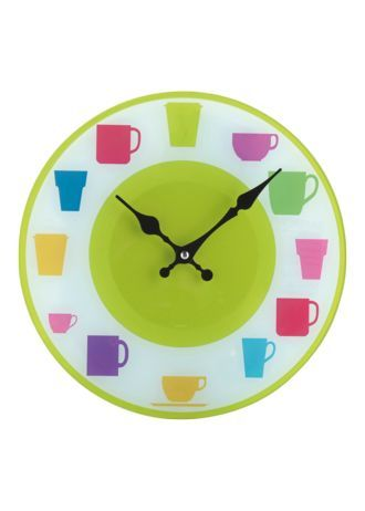 cute and bright clock kitchen wall