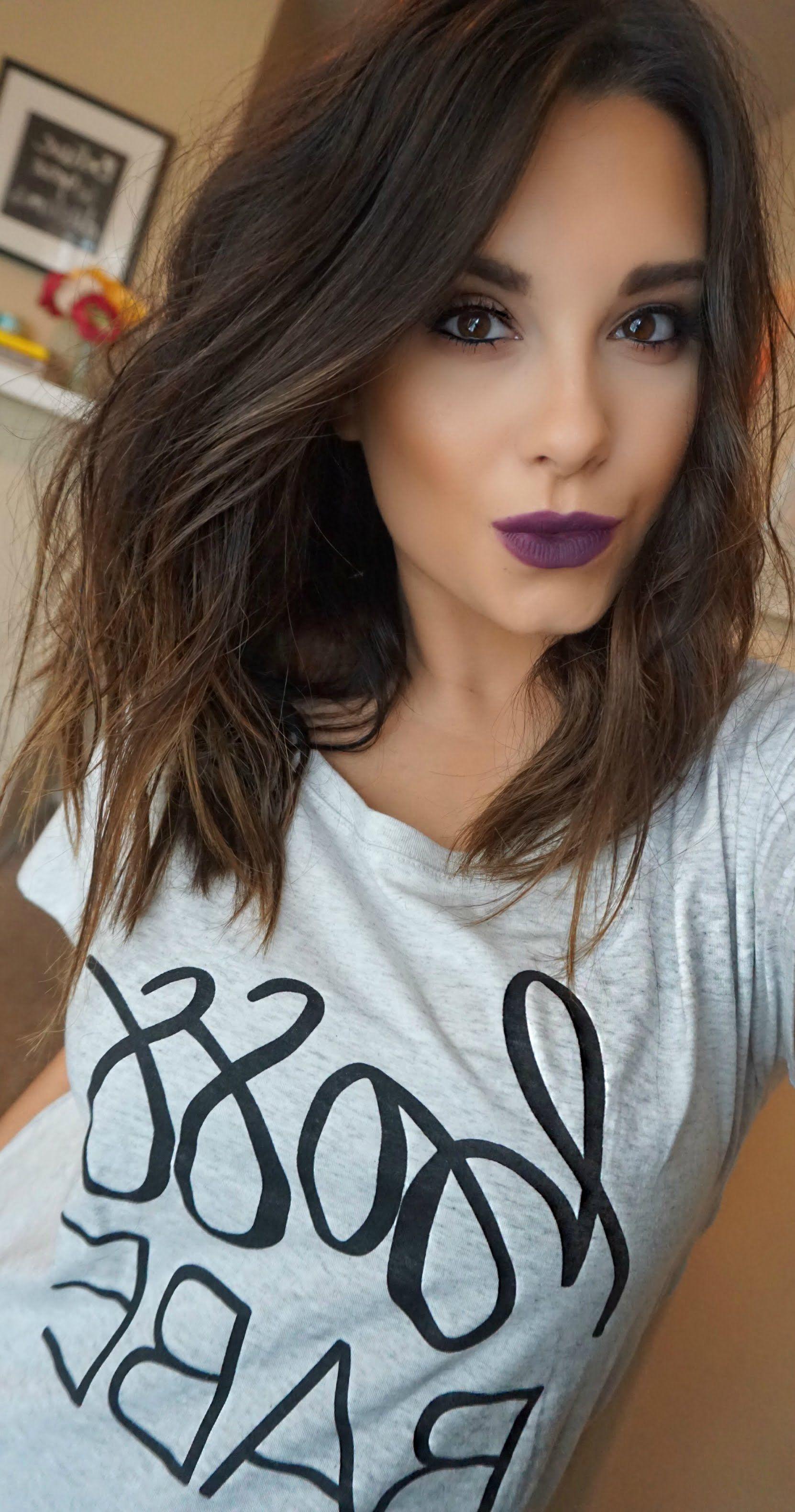 Dark vampy tutorial makeup more hairstyles pinterest cabello