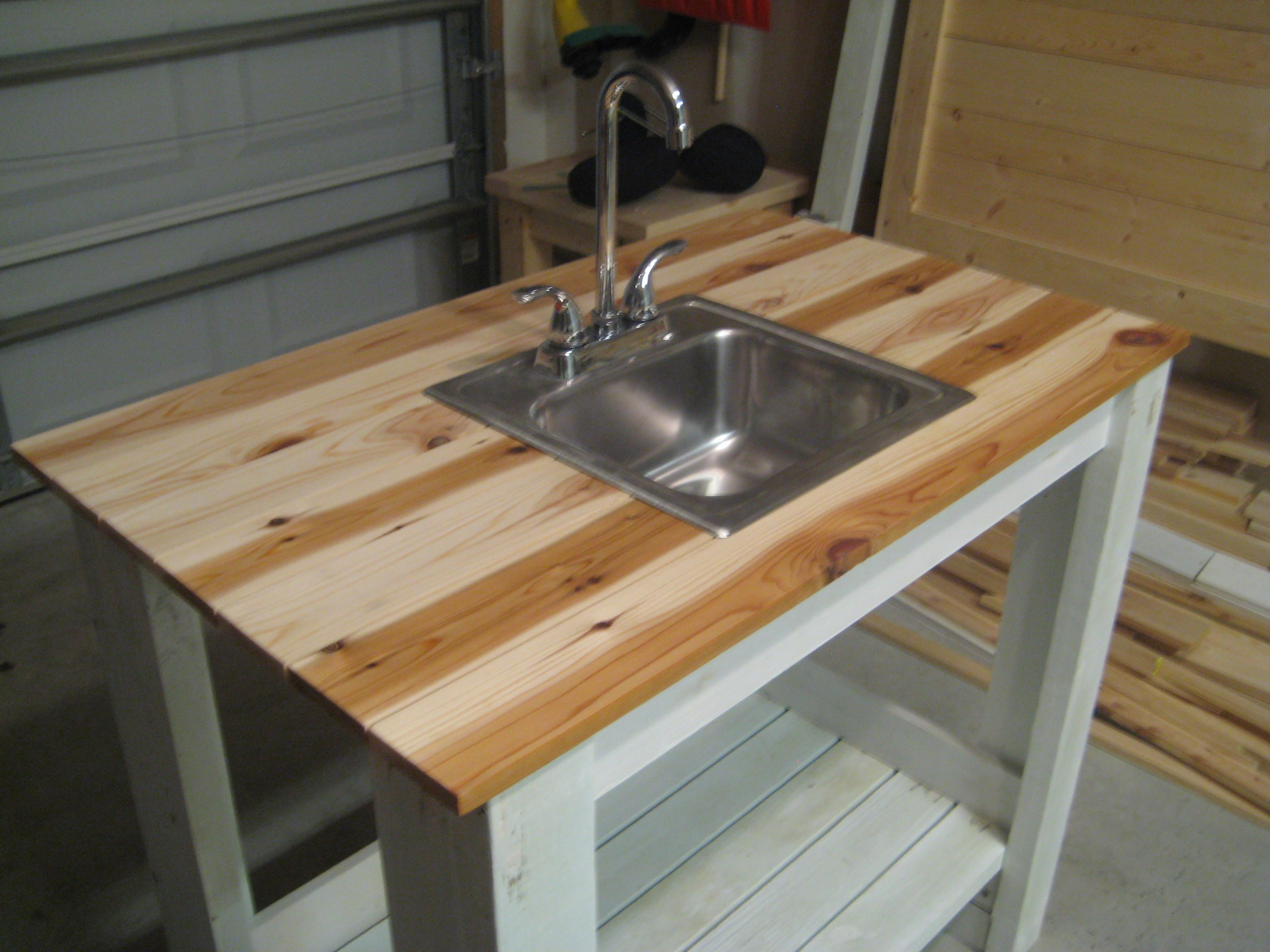 lovely Outdoor Kitchen Sink Station #7: outdoor kitchen with sink | My Simple Outdoor Sink