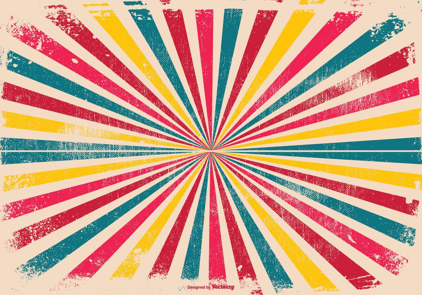 Colorful Grunge Sunburst Background Vector Art Design Vector Art Vector Free