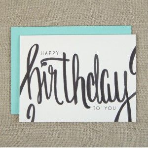 Simple Happy Birthday Card Crafts Hand Lettering Simple