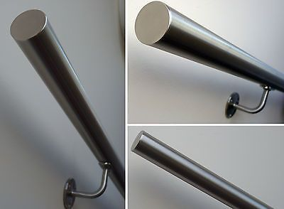 Best Brushed Satin Stainless Steel Stair Handrail 320 Grit 400 x 300