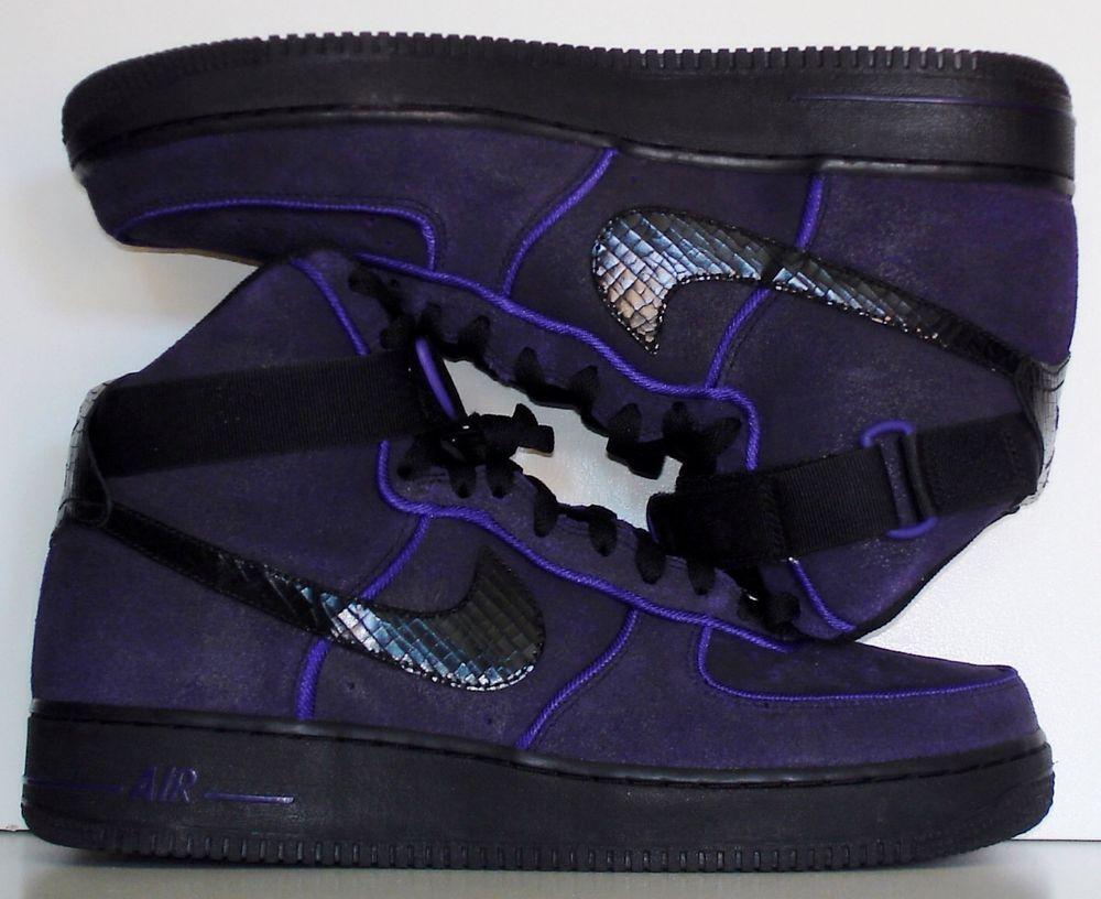 watch b418f 01c05 New Nike Men s Air Force 1 High  07 Kobe Bryant Basketball Black Purple  Size 12  Nike  BasketballShoes