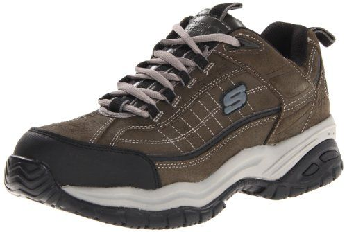 Mens Soft Stride Steel Toe Work Shoe
