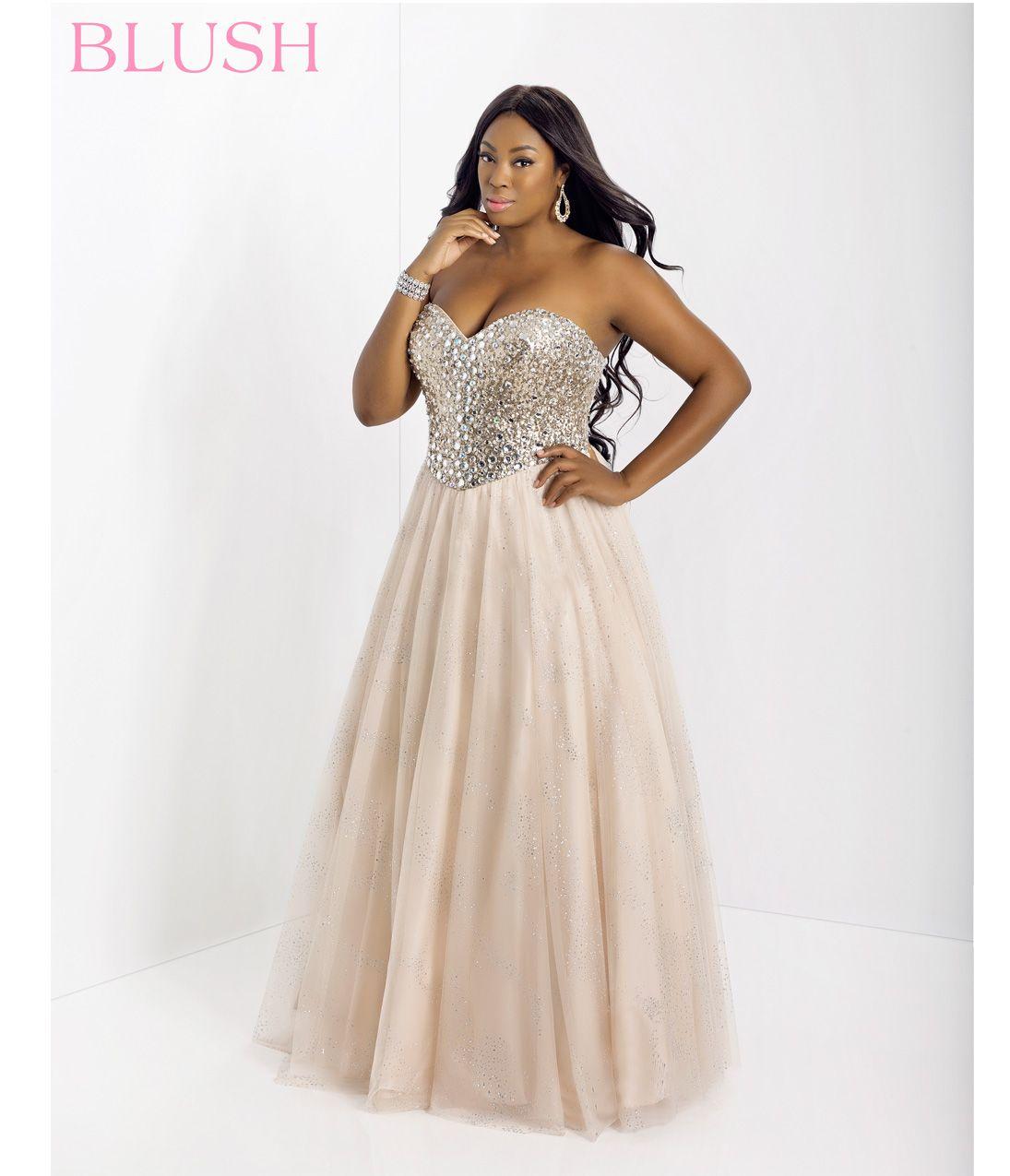 Blush Plus Size Prom Dresses
