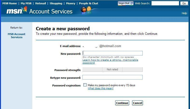 How To Recover Hotmail Password Without A Phone Number Account