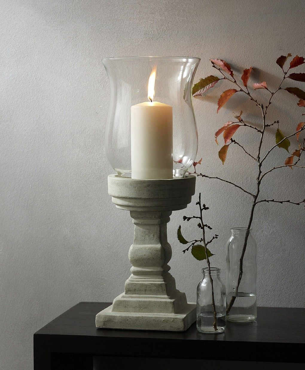 Tall Glass Windlight Candles, Candle holders, Scented