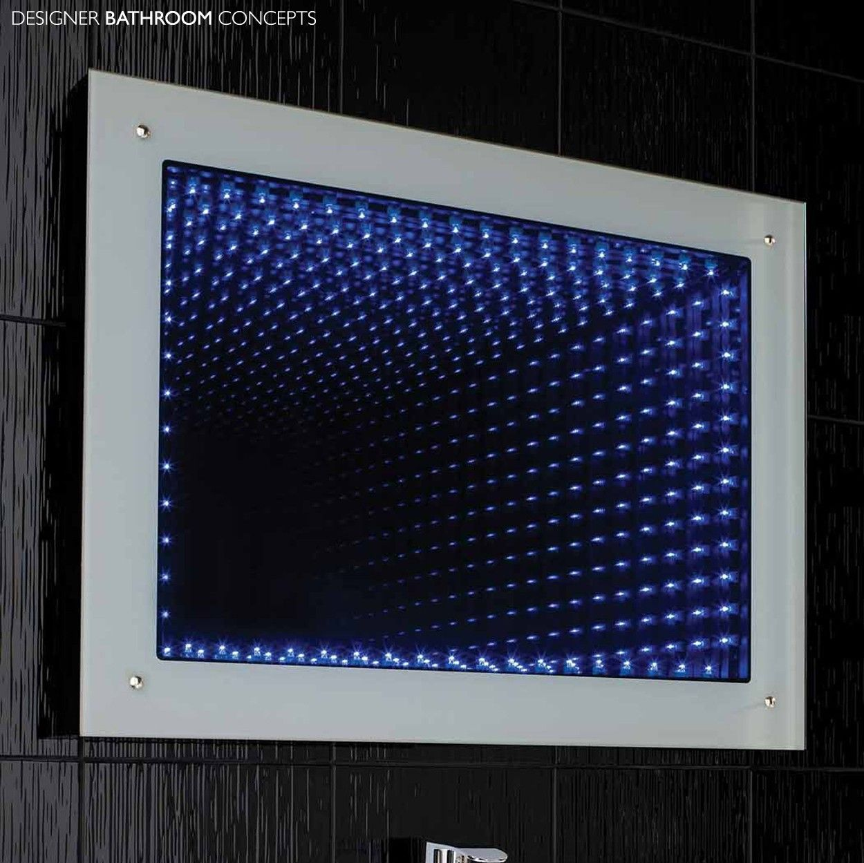 Bathroom Mirrors Led lucio infinity led bathroom mirror - main image | berlin