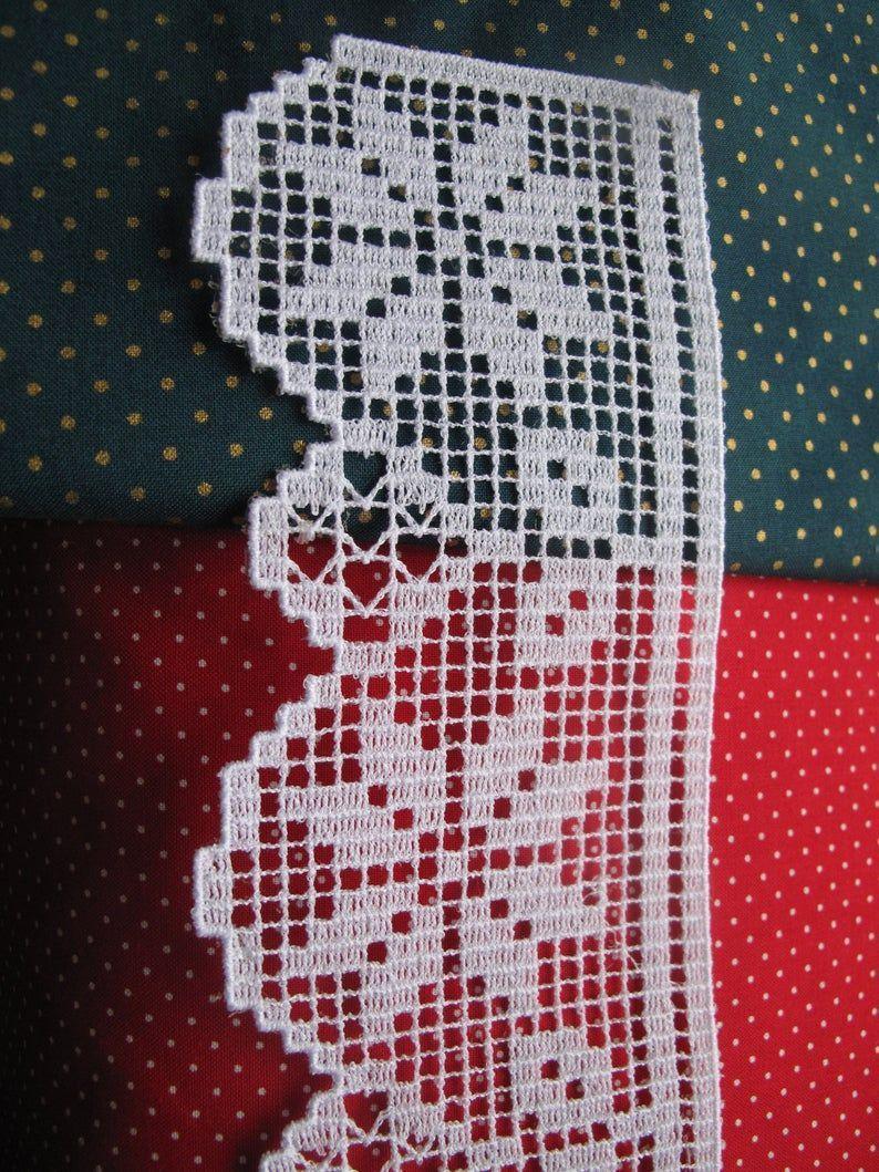 Photo of FSL Christmas Border Machine Stickmotive Poinsettia Lace Set Freistehend …
