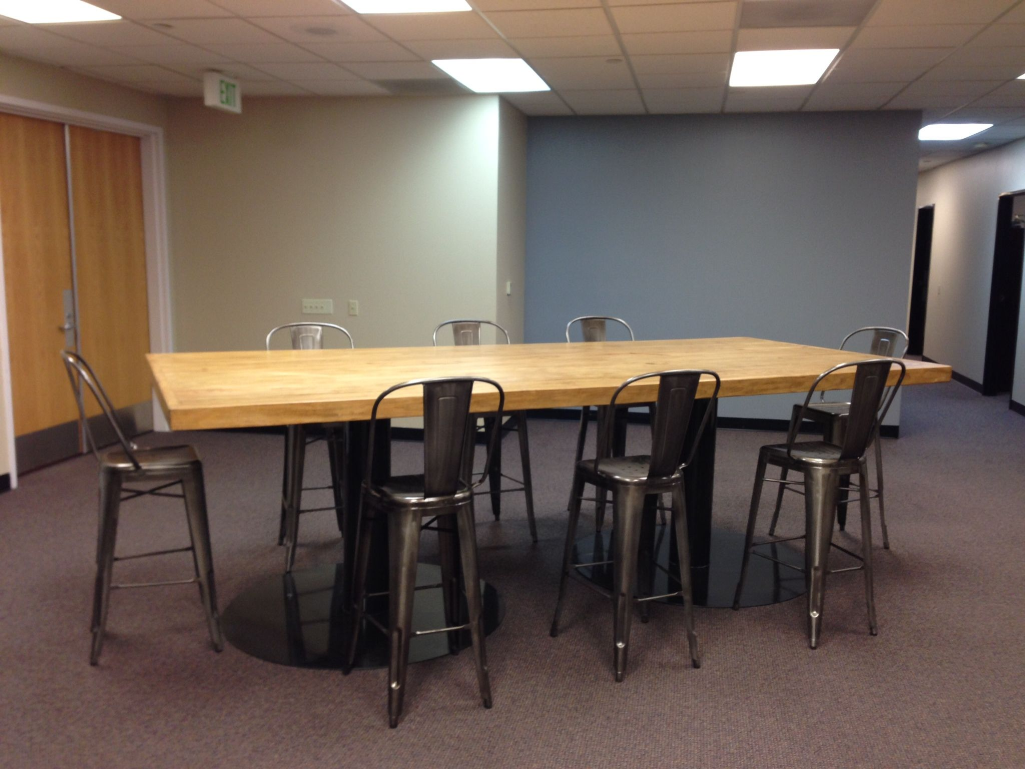 custom conference table bar height feruxe custom conference tables