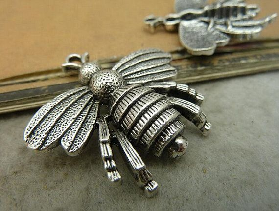 5pcs antique silver bee pendant charmsmetal findings charmjewelry 5pcs antique silver bee pendant charmsmetal findings charmjewelry making supplies 35 aloadofball Gallery