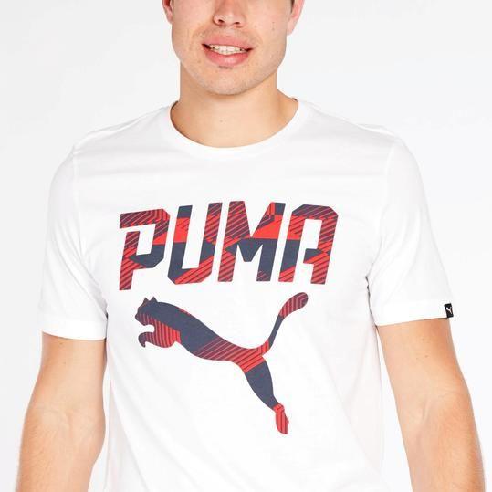 b5f804f19 Camiseta Blanca Puma Hombre