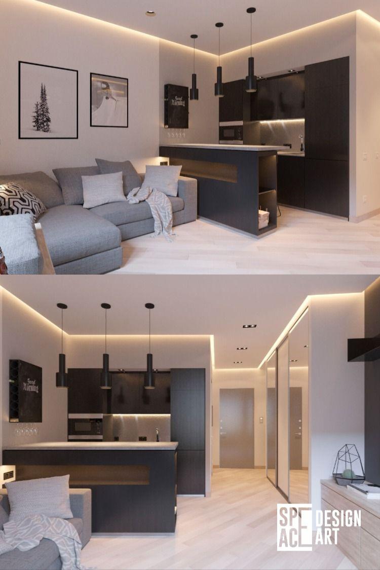 Дизайн интерьера маленькой квартиры студия DesignArtSpace Москва ЖК Фили-Град 28 м2 Design interior