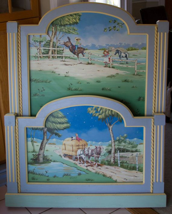 Childrens Bedroom Furniture Wood Furniture Hand Painted Farm And - Girls-bedroom-sets-painting