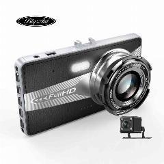 [ 24% OFF ] Full HD 1080P Dual cameras Car Vehicle HD Dash Car Camera DVR Cam Recorder with 8GB Micro SD Card Black