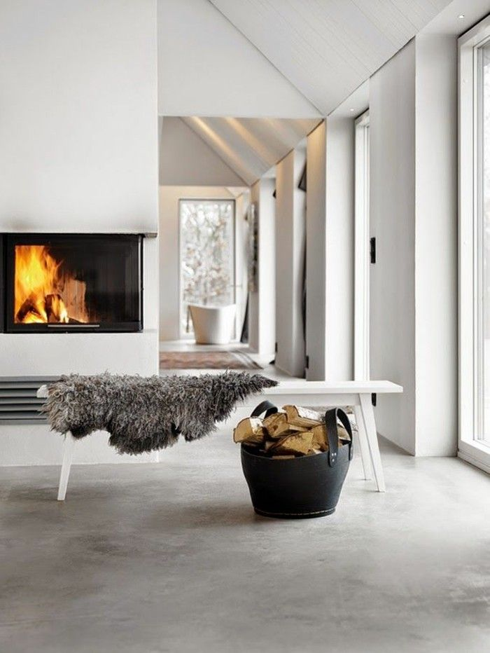 Kamin minimalistisch haus ländlich