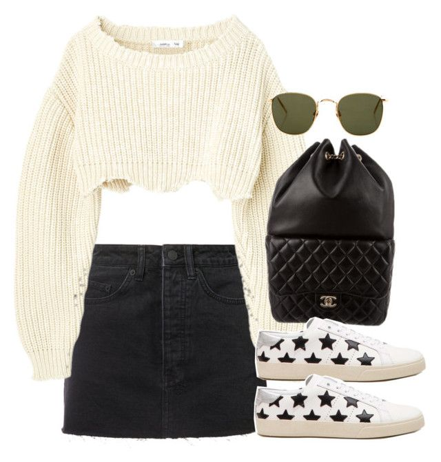 """Untitled #3421"" by camilae97 ❤ liked on Polyvore featuring Ksubi, Chanel, Linda Farrow and Yves Saint Laurent"